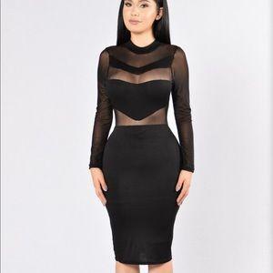 Fashion Nova illusion dress